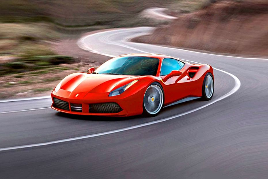 488 GTB Front angle low view