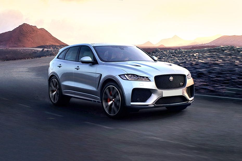 F PACE Front angle low view