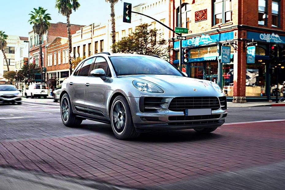 Macan Front angle low view