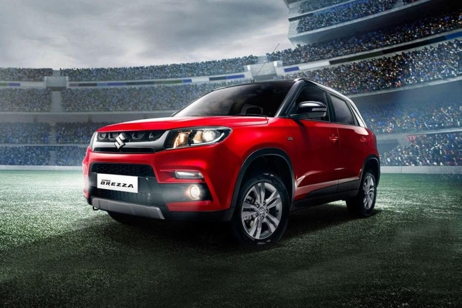 Vitara Brezza Front angle low view
