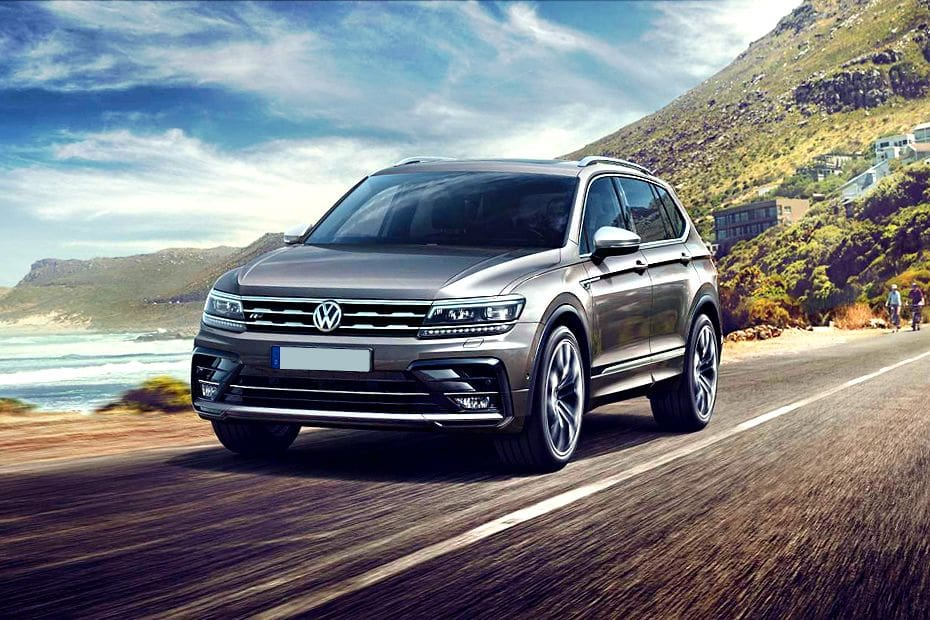 Tiguan Allspace Front angle low view