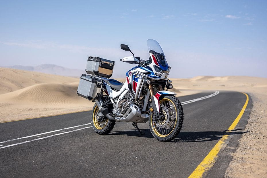 Honda CRF1100L Africa Twin Slant Rear View Full Image