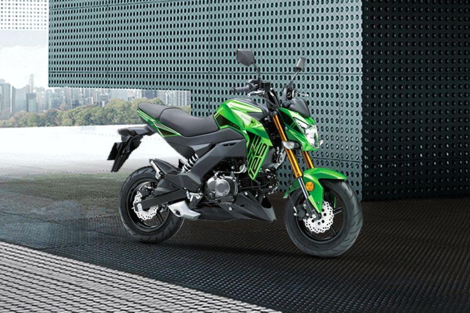 Kawasaki Z125 PRO Slant Front View Full Image
