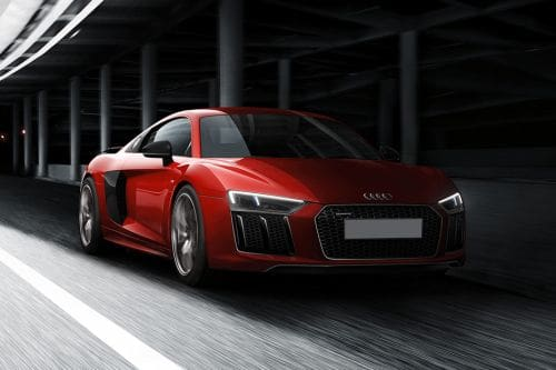 Audi R8 Front Cross Side View