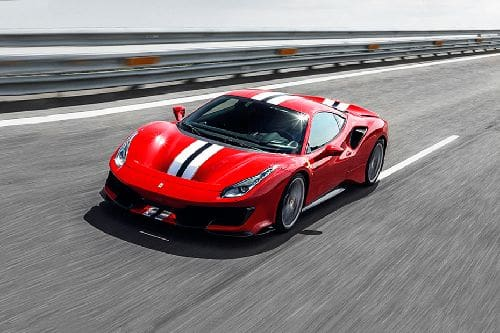 488 Pista Front angle low view