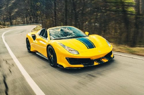 488 Pista Spider Front angle low view