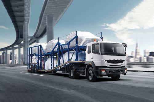 Tampak Depan Bawah Mitsubishi Tractor Head FZ 4028