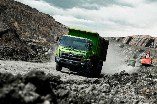 Ranger Dump FM 285 JD Mining Front angle low view