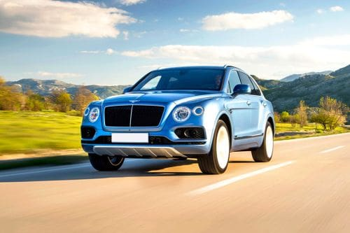 Bentayga Front angle low view