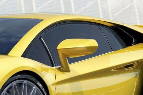 Lamborghini Aventador Drivers Side Mirror Front Angle
