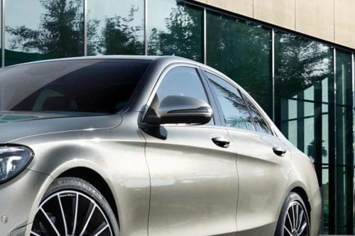 Mercedes Benz C-Class Sedan Drivers Side Mirror Front Angle