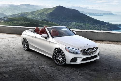 Mercedes Benz C-Class Cabriolet Front Cross Side View