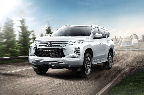 Pajero Sport Front angle low view