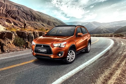 Outlander Sport Front angle low view