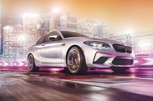 BMW M2 Competition Front Cross Side View