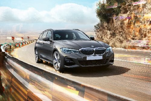 3 Series Touring Front angle low view