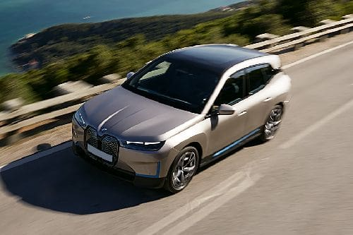 BMW iX Front Side View