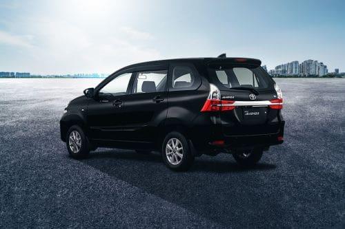 Rear Cross Side View of Toyota Avanza