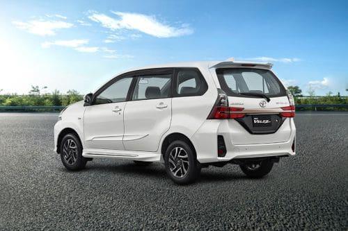 Rear Cross Side View of Toyota Avanza Veloz