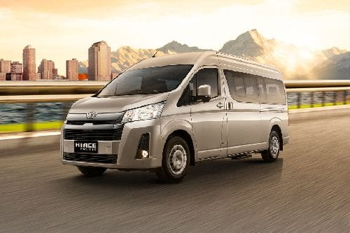 Hiace Front angle low view