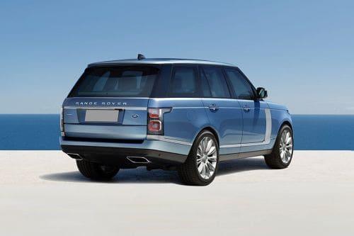 Tampak belakang Range Rover