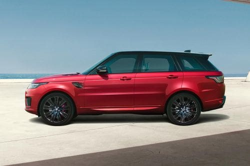 Tampak samping Range Rover Sport
