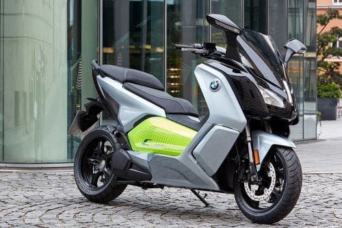 BMW C Evolution Slant Rear View Full Image