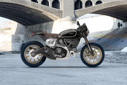 Samping kanan Ducati Scrambler Cafe Racer