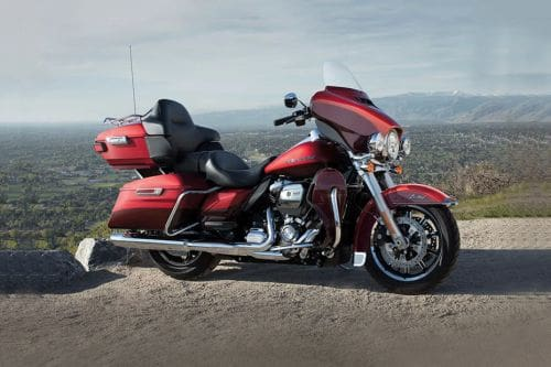 Harley Davidson Ultra Limited Slant Rear View Full Image