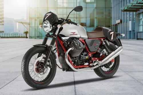 Moto Guzzi V7 II Racer Slant Front View Full Image