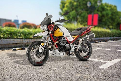 Moto Guzzi V85TT Slant Front View Full Image