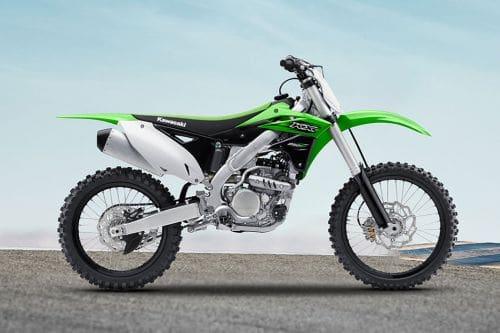 Samping kanan Kawasaki KX
