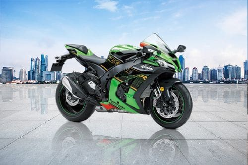 Tampak belakang serong Kawasaki Ninja ZX10-R
