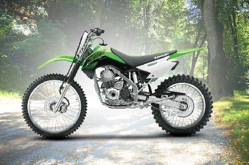 Kawasaki KLX 140 Left Side View Full Image