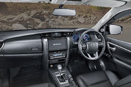 Dashboard View of Fortuner